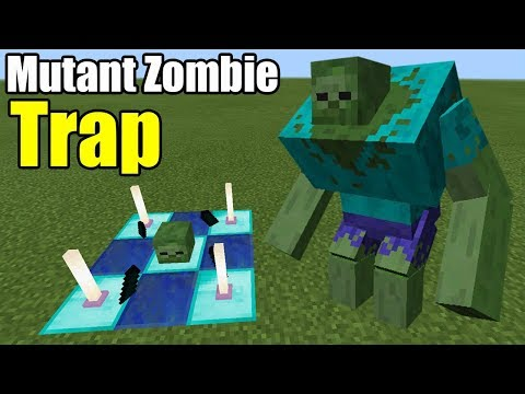 How to Make a MUTANT ZOMBIE TRAP | Minecraft PE