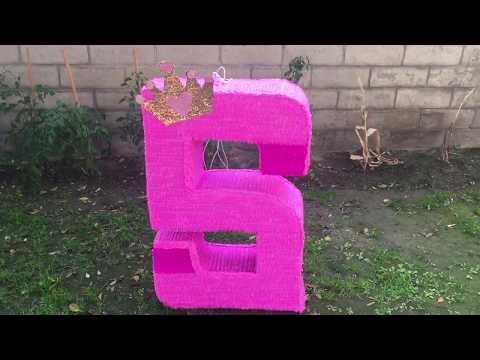 Number Pinata Princess Theme Birthday Piñata