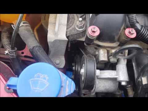 2012+ Ford Focus Belt replacement  - Stretch Belt with no tools