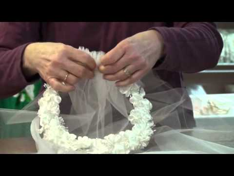 Project: First Communion Veil (Floral Ring)