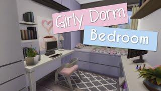 The Sims 4   Room Build - Girly Dorm