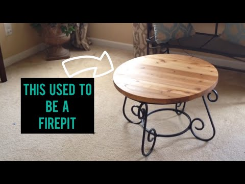 Make A Coffee Table From An Old Fire Pit (CMRW#34)