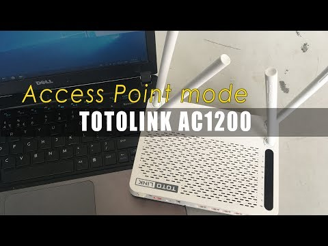 How to setup access point TOTOLINK 4 Antenna