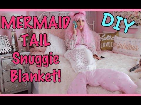 MERMAID TAIL Snuggie Blanket DIY!