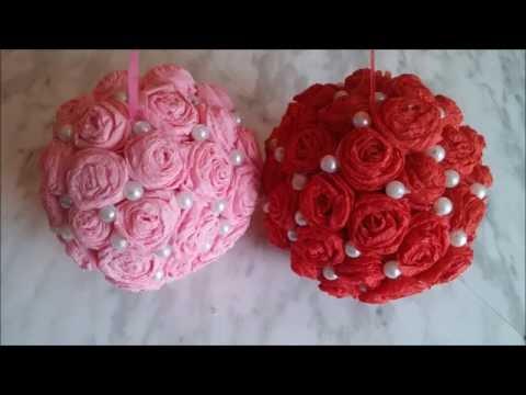 Decorative flower balls. How to make wedding pomander flower ball