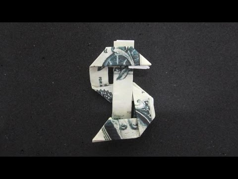 Origami money - How To Fold Dollar Symbol Icon