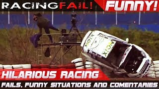 FUNNY RACING 2! Best of Fails, Hilarious Situations and Commentaries of 2017-2018 Compilation