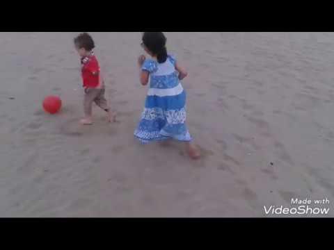 فطور في شاطىء بحر سلا مع زوجي واختي وابني