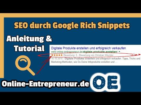 Google Rich Snippets Tutorial auf deutsch: SEO Tipps & Tricks