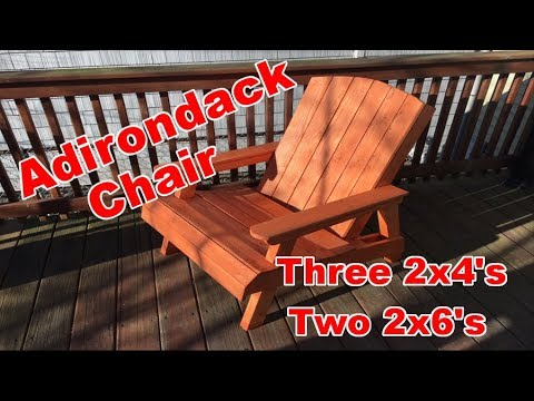 Cheap and Easy Adirondack Chair for $30