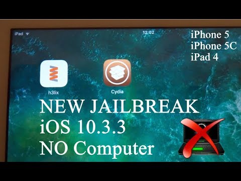 NEW How To JAILBREAK iOS 10.3.3 NO Computer iPhone 5 , 5C & iPad 4 - H3lix