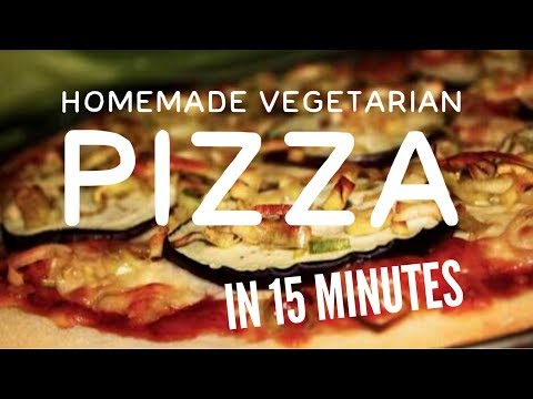 Homemade Vegetarian Pizza | Eggplant 🍆 topping and ready in 15 minutes