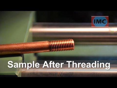 Thread Rolling Machine On Copper Rod