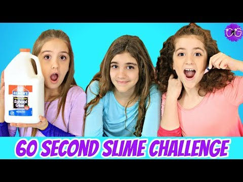 60 Second Slime Challenge (Sort of...) 😂