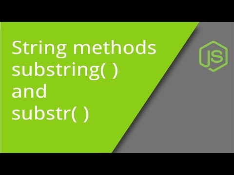 substring and substr String methods