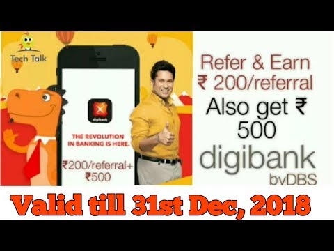 Digibank Refer and Earn ₹200/referral+ ₹500 with debit card | Tech Talk with Pradeep