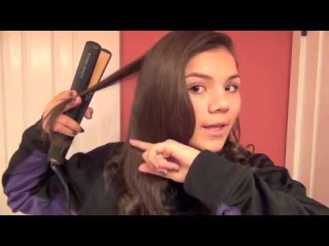 Tutorial: How to curl your hair with a straightener!