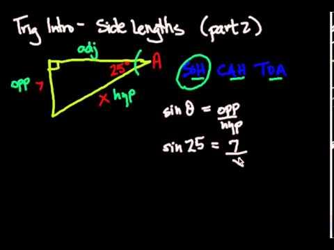Trigonometry Intro - Solving side lengths Part 2