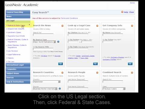 LexisNexis Academic: Find a Specific U.S. Legal Case