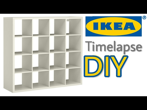 IKEA Timelapse How To Assemble Kallax Shelf