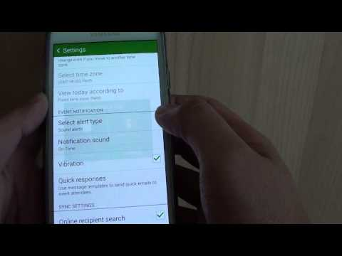 Samsung Galaxy S5: How to Change Calendar Notification Sound