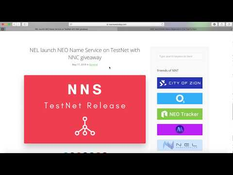NEO domain name service | Free $NNC token giveaway