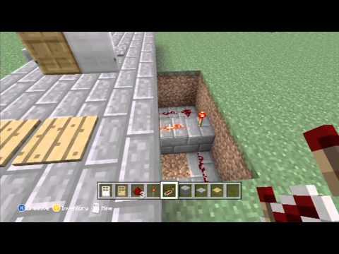 Xbox 360 Minecraft Tutorial of Pressure Plate Doors With Lock