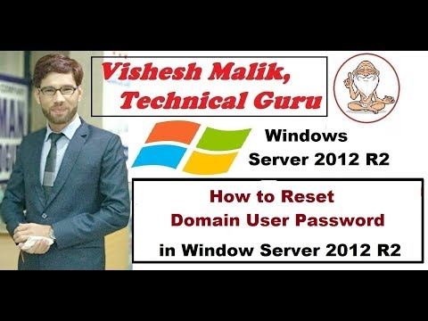 How to Reset Domain User Password in Window Server 2012 R2
