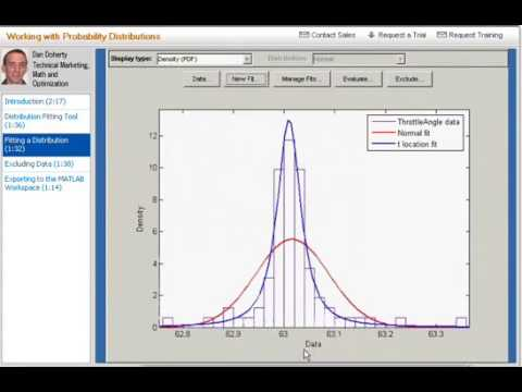 MATLAB Tutorial   25 Working with Probability Distributions