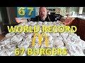 Mcdonald's Hamburger Challenge World Record! - Collaboration With Corbucci Eats