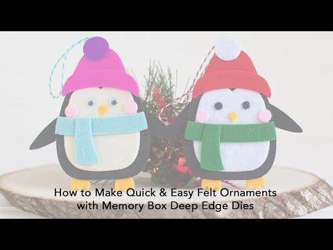 How to Make Quick NO SEW Felt Ornaments