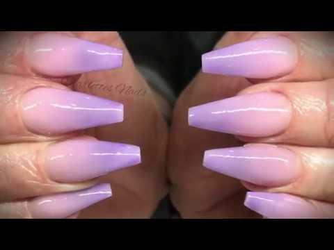 Acrylic nails - lilac ombré