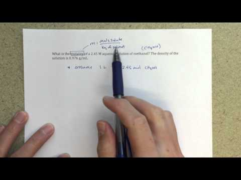 General Chemistry II - Calculating Molality