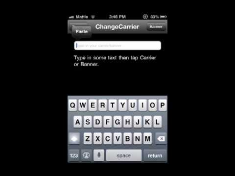 How to Change Carrier/Banner on iDevices