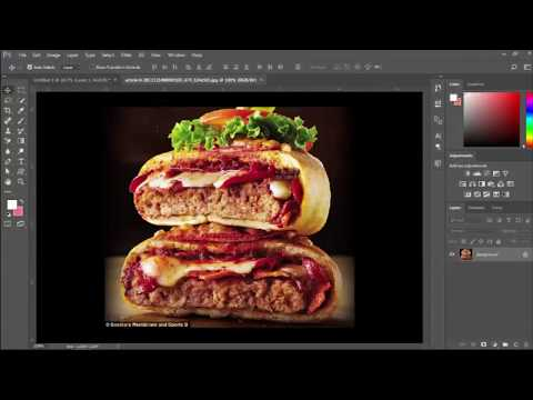 How to food banner design  in Photoshop CC 2017 // banner design template