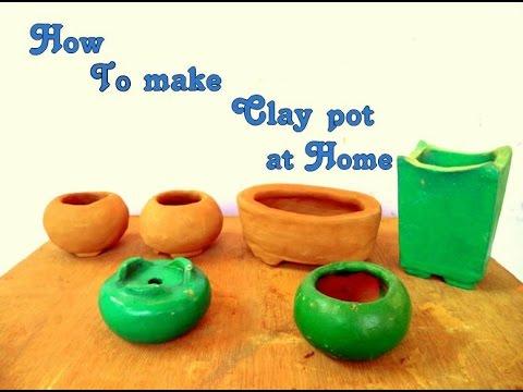 How to make clay Bonsai pots at home - Hindi