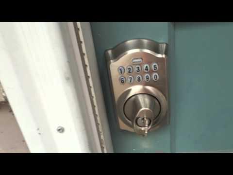 How to Unlock a Schlage Electronic Keypad BE365 Deadbolt Using a Key