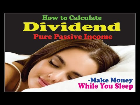 How to Calculate Dividend - Pure Passive income
