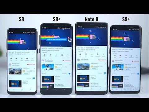 Battery Test: Samsung S9 Plus vs S8 Plus vs S8 vs Note8