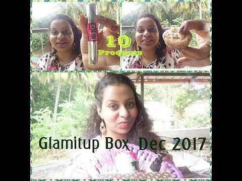 Glamitup box December unboxing 🎁 10 products 😀