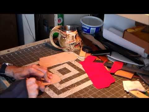 Part 2-6: Beveling Edges and Dyeing Leather Black