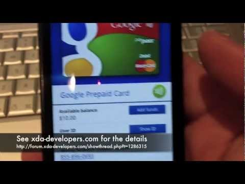 Google Wallet Demo on Nexus S (hacked)