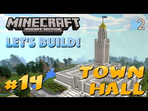 Minecraft PE - Town Hall Tower (Let's Build a World #14)