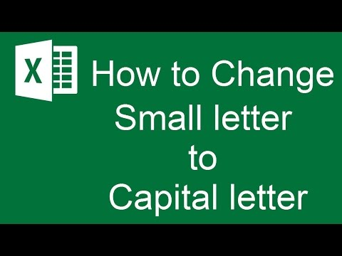 How to Change Lowercase to Uppercase letter in MS Excel Sheet