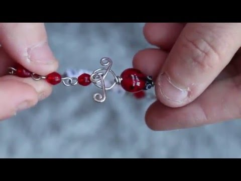 Toggle clasp tutorial easy