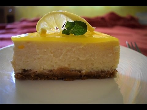 Eggless Lemon Cheese Cake