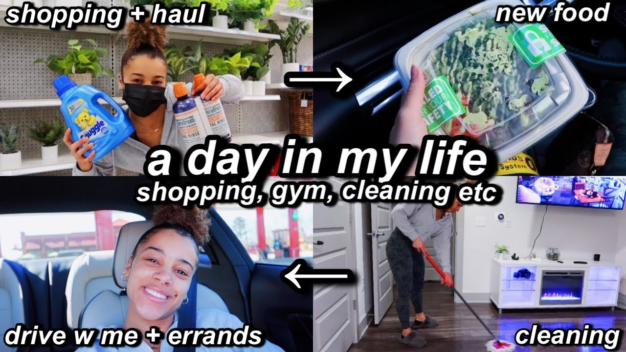 vlog: a productive day in my life! shopping,cleaning,gym,cooking etc   Azlia Williams
