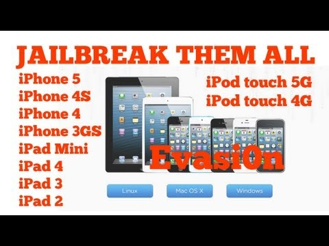 Jailbreak iOS 6.1.1, iPhone 5, 4S, 4, 3GS, iPad Mini, 4,3,2, iPod Touch 5G, 4G, Evasi0n