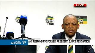 ANC responds to former President Zuma