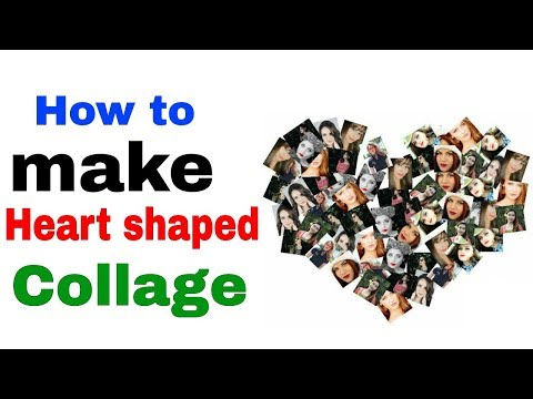 How to make Heart shaped Collage | in Photo Lab App